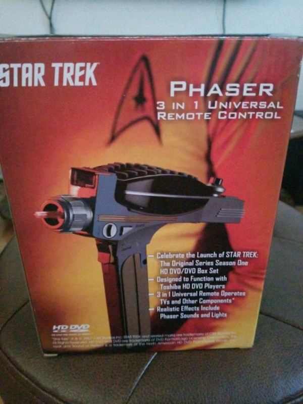 Star trek phaser 3 in 1 universal remote control