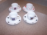 8 piece set CASA ELITE EXPRESSO CUP/PLATE - home collections Vaughan