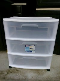 white plastic 3-drawer chest Orion charter Township, 48362