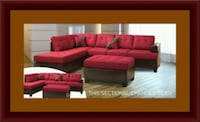 Red sectional with ottoman UNIVERSITY PA, 20782