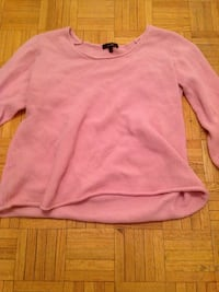 Pink scoop-neck long-sleeve shirt