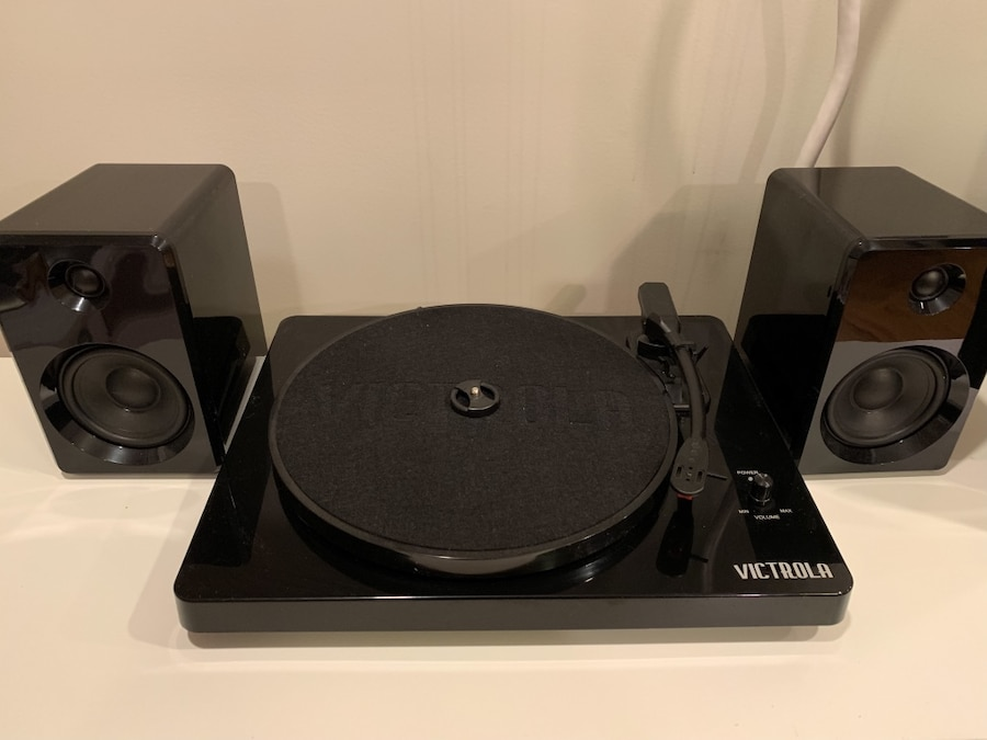 Victrola Modern 3-Speed Bluetooth Record Player Turntable with Speakers