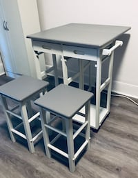 Winsome Wood Space Saver Drop Leaf Kitchen Cart with 2 Stools Toronto, M6G 1C5