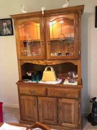 Beautiful Solid Maple Lighted China Cabinet
