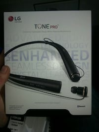 black LG Tone Pro Bluetooth neckband box