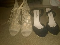 1 pair of wedges and 1 pair of beige heels San Antonio