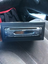 black Sony car 1-din head unit Kitchener, N2M