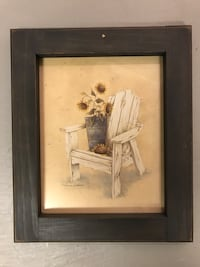 Muskoka chair picture with sunflowers
