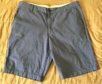 Dockers Blue White Striped Flat Front Classic Preppy Shorts Mens Waist Sz 38 Tempe, 85281