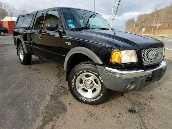 Used Black Ford F150 Extra Cab With Camper Shell For Sale In Meriden