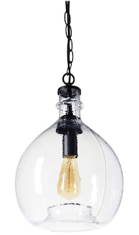 Wavy Hammered Hand Blown Glass Pendant Light Arcadia, 91006