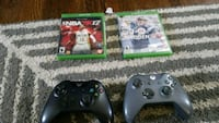 Xbox1 2 controller 6games 2dis 4save Marlow Heights, 20748