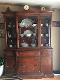 brown wooden cabinet with mirror null, 31329