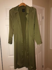Silk Green Trench Coat