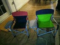 two blue and green camping chairs Winter Haven, 33880