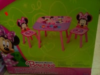 toddler's Minnie Mouse 3-piece table set box 42 km