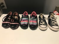 several assorted color shoes