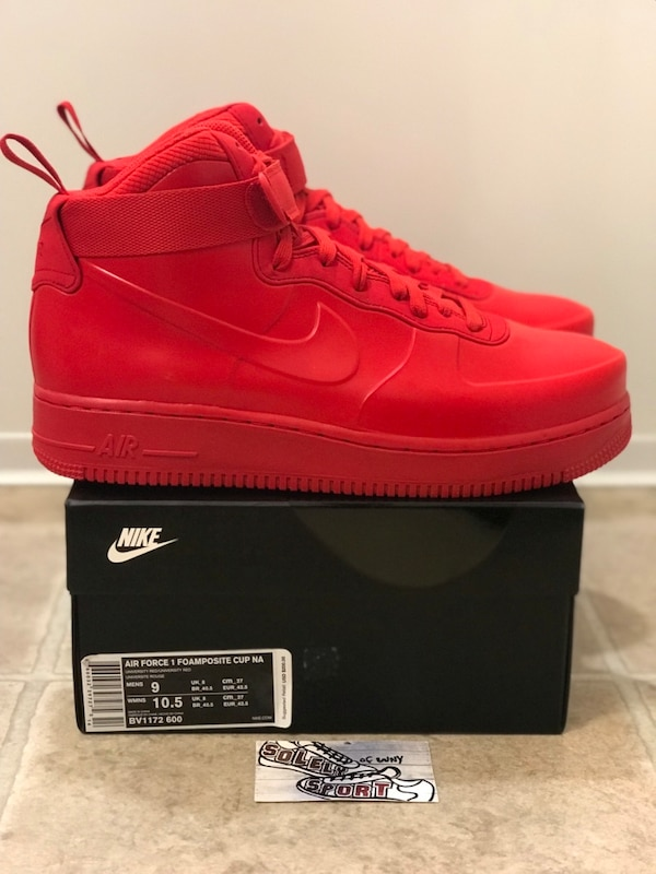 timeless design 0b43f 8715b Nike Air Force 1 Foamposite Cup Red Mens