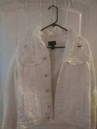 Forever 21 white denim jacket