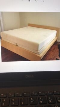 Full or Queen Light brown wood frame bed, will Deliver !