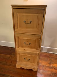 Solid wood 3 drawer filing cabinet