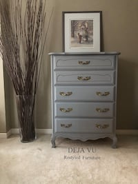 Beautiful French Provincial Tallboy Dresser