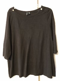 Cynthia Rowley Women's Size 2X Black Lightweight Top, 3/4 Sleeves Baltimore, 21236