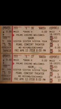 two Sister Sister Sister concert tickets