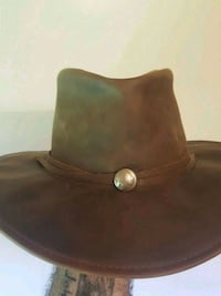 Herschel leather hat