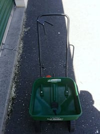 green and black push mower