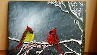 24x18 inches cardinals acrylic painting  Vaughan, L4K 2L7