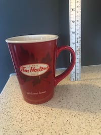 Tim Hortons #11 Welcome Home Maple Leaf Red Coffee Tea Mug Cup Courtice, L1E 0H5