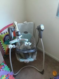 baby's gray and white cradle and swing Tampa, 33614