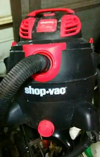 red and black Shop-Vac wet&dry vacuum cleaner