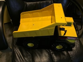 Tonka Original yellow and black plastic toy truck