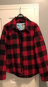 Red and black plaid button-up long sleeve shirt Edmonton, T5K 1B1