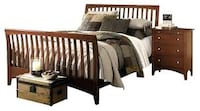 Queen sleigh bed with mattress. Good condition.  Similar to bedroom picture attached Las Vegas, 89149