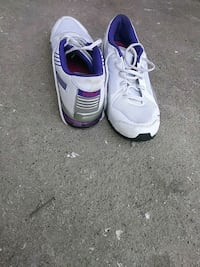 pair of white-and-purple Nike basketball shoes Richmond, 94801