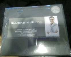 Gluckstein Grey 4 Piece Queen Sheet Set 500 Count Thread (New) $70.00