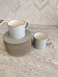 12 mugs and 12 saucers from Crate & Barrel Broadlands, 20148