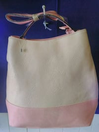 white and gray leather tote bag Springfield, 62704