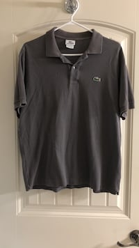 Men's Lacoste polo size 5 in grey good condition  Surrey, V3S 2P4