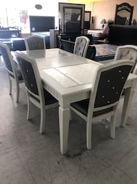 Moving Sale! Everything has to go! White Table with 6 Chairs!