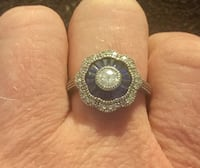 Sapphire and CZ Sterling Ring Pasadena, 21122