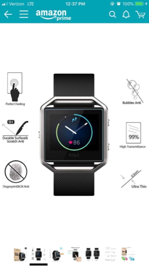 FitBit Blaze with Charger and Screen Protectors - LIKE NEW 4824dba9-c76c-482f-a1a8-879963d84e5e