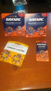 4 packs of batteries # 13 long lasting Ottawa, K1Z 8H4
