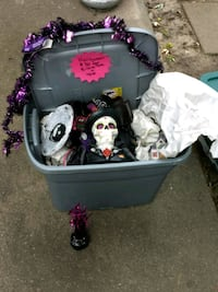 Tote of Halloween Decorations Redford Charter Township, 48240