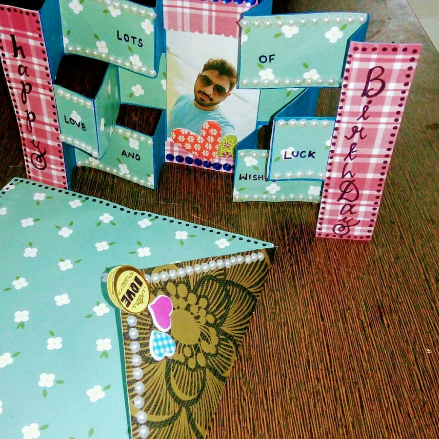 teal and pink collage photo paper
