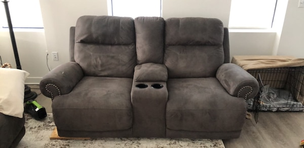 Dual Recliner Console + Reclining Couch