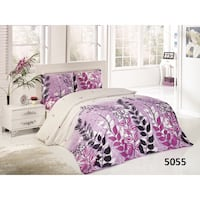 white and purple floral bed sheet set London